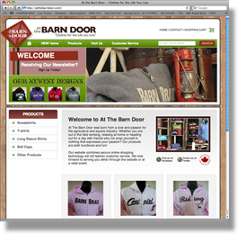 Touch Media Portfolio - At The Barn Door
